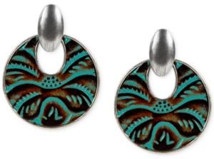 Patricia Nash Leather Doorknocker Earrings