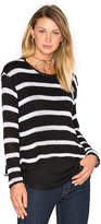 Generation Love Molly Stripes Sweatshirt in Black & White. - size XS (also in )