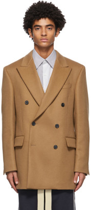 Loewe Tan Wool and Cashmere Double-Breasted Blazer