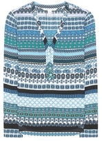 Diane von Furstenberg Arden Printed Silk-blend Blouse