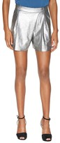 Halston Metallic Suede Shorts