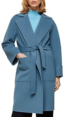 Whistles Double-Faced Wool Wrap Coat