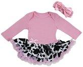 Ameda Baby Cow Printed Cowgirl Bodysuit Tutu