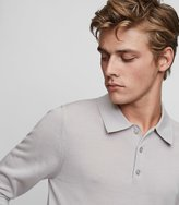Reiss Trafford - Merino Wool Polo Shirt in Grey, Mens