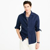 J.Crew Wallace & Barnes lightweight garment-dyed cotton-linen shirt-jacket