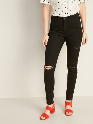 Old Navy High-Waisted Distressed Pop Icon Skinny Jeans For Women
