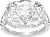 Swarovski Holding Ring, White, Rhodium plating