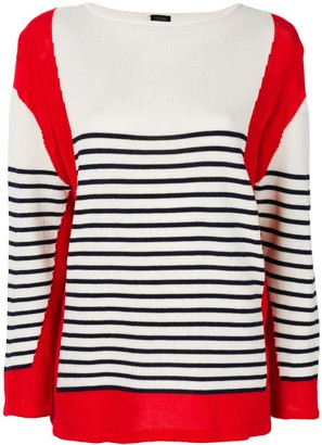 Jean Paul Gaultier Pre-Owned blockcolour striped jumper
