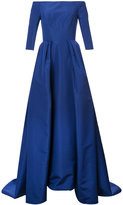 Carolina Herrera off the shoulder solid faille gown - women - Silk - 2