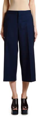 Marni Wide-Leg Crop Tropical Wool Pants