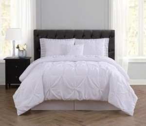 Truly Soft Arrow Pleated White King Bed in a Bag Bedding