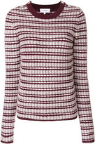 Carven striped crew neck jumper - women - Cotton/Acrylic/Nylon/Metallized Polyester - XS