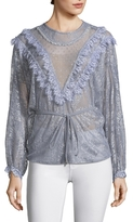 Alice McCall Picture This Metallic Mesh Lace Blouse