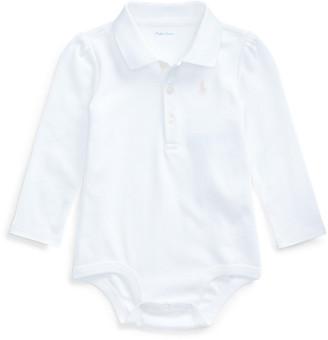 Ralph Lauren Cotton Interlock Polo Bodysuit