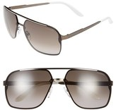 Carrera Men's Eyewear 64Mm Navigator Sunglasses - Light Gold Semi Matte/ Violet