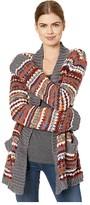 BB Dakota Shawl That Novelty Textured Stripe Cardigan (Multi Stripe) Women's Sweater
