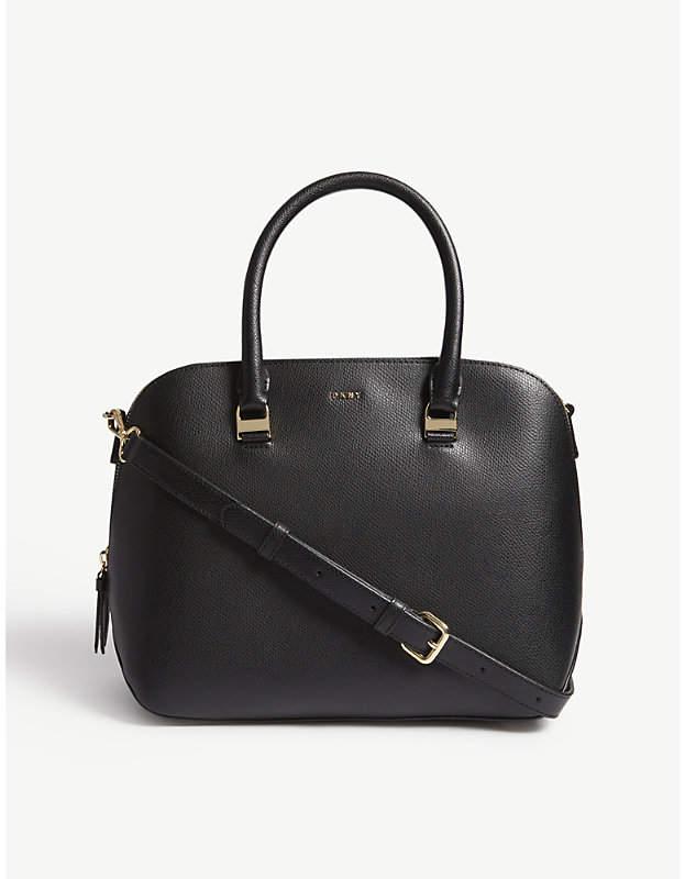 DKNY Lynn medium leather satchel bag