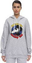 Moschino Cotton Jersey Sweatshirt Hoodie W/patch