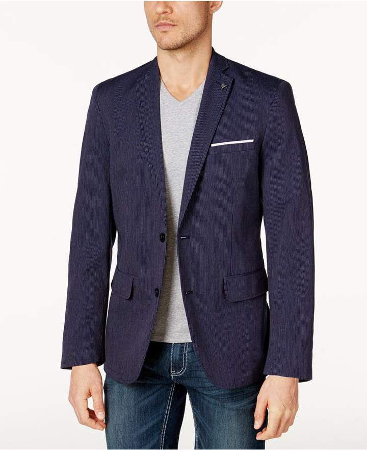 INC International Concepts Men's Classic-Fit Pinstriped Blazer, Created for Macy's