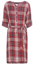 Velvet Check cotton dress