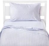 Circo Flutter Microfiber Sheet Set - White&Blue - Pillowfort