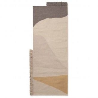 ferm LIVING 80 x 140cm Woolen Earth Kelim Doormat - Wool / Cotton   sand - Sand