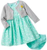 Carter's dot woven dress set - baby