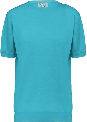 Prada Worsted fine-knit T-shirt