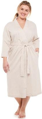 Jockey Plus Size Everyday Essentials Long Wrap Robe