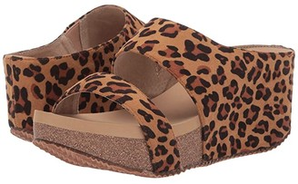 Volatile Chic (Tan/Leopard) Women's Wedge Shoes