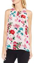 Vince Camuto Women's Floral Heirlooms Sleeveless Blouse