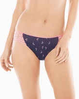 Soma Intimates Microfiber with Lace Bikini