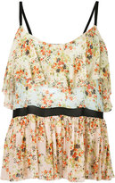 Jucca floral print top - women - Polyester/Viscose - 40