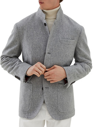 Brunello Cucinelli Men's Waterproof Cashmere Blazer Coat