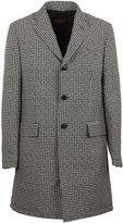 Tod's Grey Houndstooth Coat