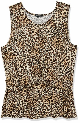Forever 21 Women's Plus Size Leopard Print Tank Top