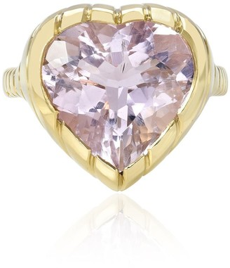 Retrouvaí 14K yellow gold One of a Kind Heirloom morganite ring