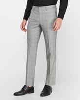 Express Slim Gray Plaid Wrinkle-Resistant Performance Dress Pant