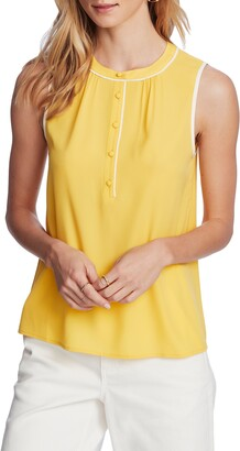 Court & Rowe Sleeveless Crepe de Chine Blouse