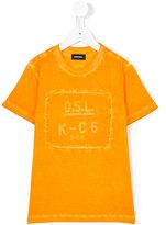 Diesel logo print T-shirt - kids - Cotton - 3 yrs