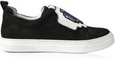 Pierre Hardy Gem Black Suede Slip-On Sneaker