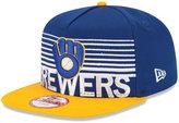 New Era Milwaukee Brewers Strike Stack 9FIFTY Snapback Cap
