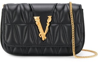 Versace Logo Plaque Mini Cross Body Bag