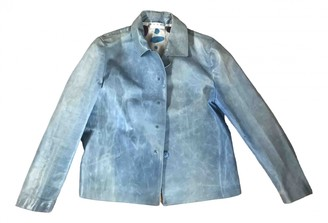 Marni Blue Leather Jackets