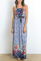 Gilli Blue Floral Dress