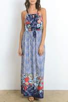 Gilli Blue Floral Dress