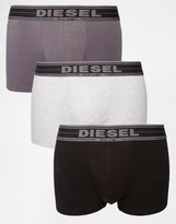 Diesel Under Denim Trunks In 3 Pack
