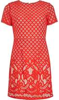 Dorothy Perkins Petite Red Lace A-Line Dress