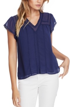 1 STATE Trendy Plus Size Lace-Trim Top