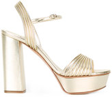 Casadei open toe platform sandals - women - Leather - 36